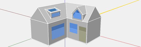 Huis met dakkapel tekenen